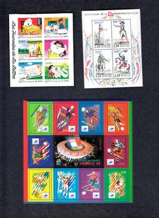 France - stamp booklets and sheetlets from the 1980s and 1990s in stock book + stock book 1941-1976.