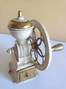 Antique Spanish coffee and spice grinder.  Iron. 2.6 kg.