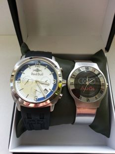 Set of 2 promotional watches - Audi / Redbull - Men's wristwatches