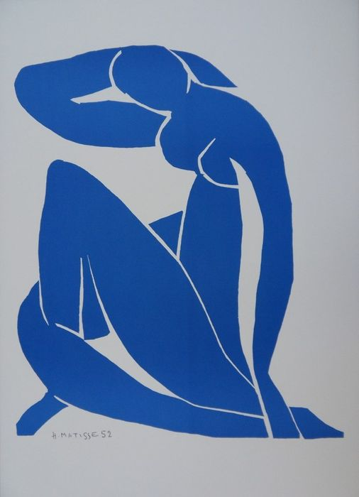 Henri Matisse (after) - Nu bleu endormi
