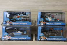 Altaya - Scale 1/43 - Lot with 4 models: 4 x Michel Vaillant, Mystère, F1 2003, F1 1982 turbo & F1 1970