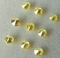 "Lot of 9 Natural diamonds ct. 1.02 "" no reserve price."""