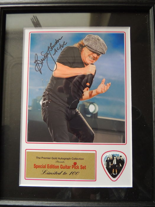 Brain Johnson AC/DC Beautiful Signed (in print) Picture
