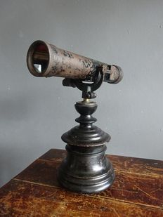 Old Visor/Viewer on antique wooden stand, early 20th century