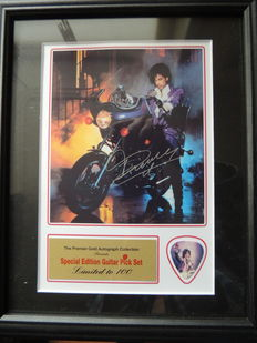 Prince - Purple Rain - Signed Autograph(in print) With special edition Guitar Pick Limeted Edition