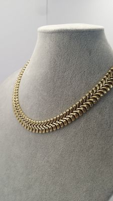 Charming Women's necklace 14 kt yellow gold 66,2 grams