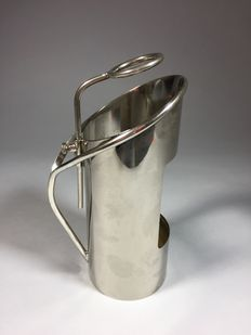 Silver plated bottle holder, second half 20th century