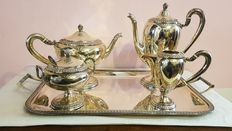 Silver tea set from mid 1900.