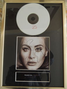 Adele - Beautifull - Signed Autograph(in print) Cd With Cover - Titel 25 -