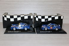 Minichamps - Scale 1/43 - Lot with 2 models: 2 x Porsche 911 RSR 1973 #6 & #14