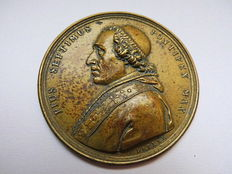 Vatican - Bronze Medal No Date by F. Ditler (signed) commemorating to the Pope Pope Pius VII, 1800-1823