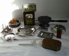 Large lot of ashtrays and old smoking articles