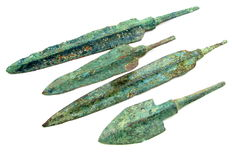 Lot of 4 Large Bronze Age Arrowheads (4) - 88  - 152 mm