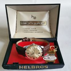 Helbros – Day&Date vintage watch, original box and tag, 1960s