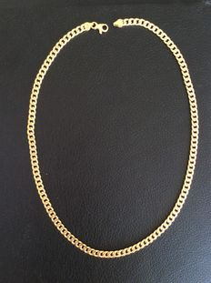 18 kt gold curb necklace - 45 cm **No reserve price**