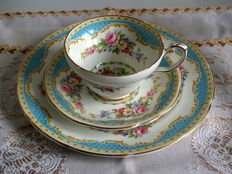 "2x Foley China"" Windsor"" Tea Set Trios ,English Bone China"