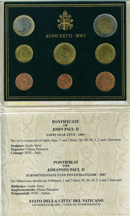 Vatican Euro Coin Set 2005 John Paul Ii Catawiki