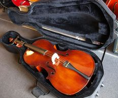New Menzel Antique Dark Brown 4/4 adult size  solid cello / Violoncelle with case and bow