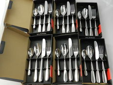 "Ettore Sottsass for Alessi – 6 x ""Nuovo Milano"" cutlery sets; 24 pieces"