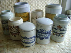 Porcelain pharmacist's jars