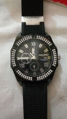 Haurex men's wristwatch with stones on the dial.