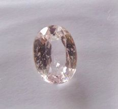 Pale pink sapphire, 1.10 ct