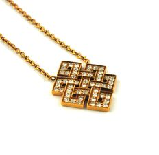 Pendant - Diamonds (1.00ct) & 18k Yellow Gold