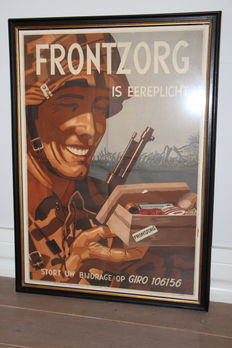 Original Dutch poster Frontzorg - WW2
