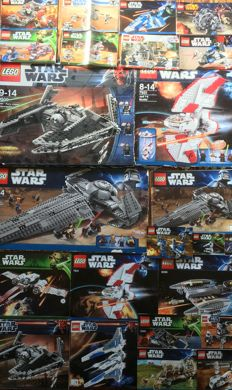 88 sets Lego o.a. Star Wars / Ninjago / City / Atlantis / Space Police / Power Miners / Racers / Technic  / Castle