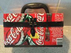 Treasure chest made of old Coca Cola cans - Ca. 1985 - presumably Africa