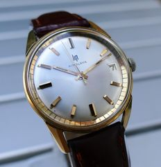 LiP Himalaya Calendrier – Gold-plated men's watch – 40 micron – 1960s