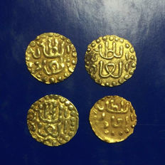Indonesia - Sumatra - Lot of 4 coins - Samudra Pasai Gold Coin (around 1200-1600 AD)
