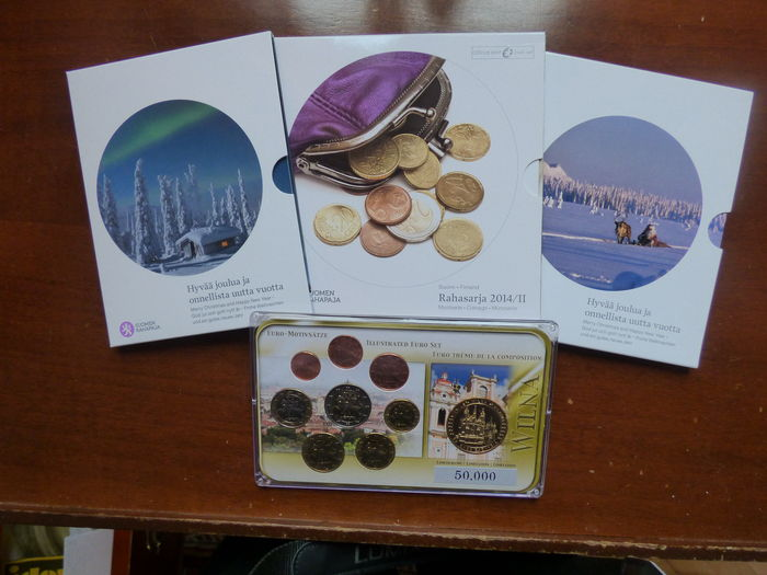 Finland and Lithuania - coin set 2014/2016 (4 pieces)