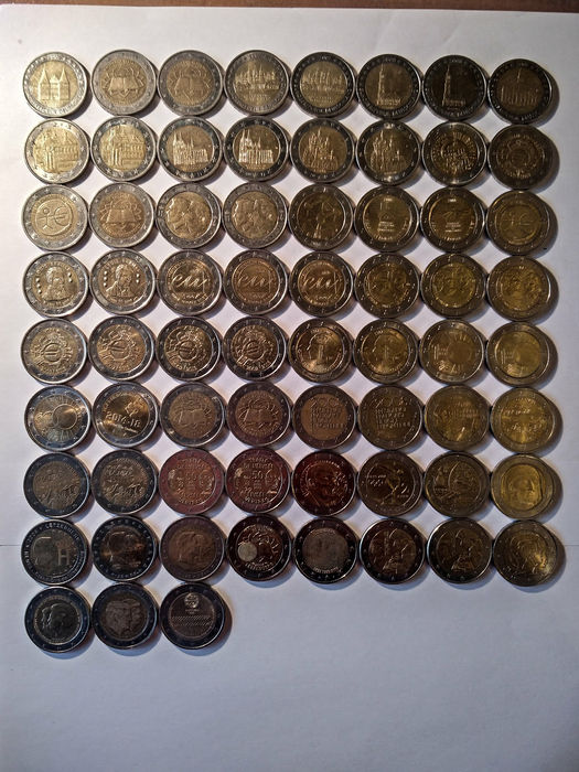 Europe - Commemorative 2 Euros - Collection of 67 coins