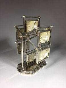 Silver plated photo carousel, second half 20th century