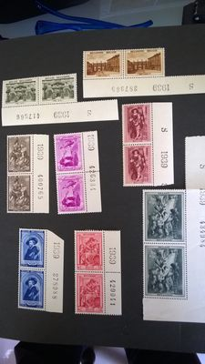 Belgium, 1939- series of double borders of pages 504/511, 519/526 and 532/537.