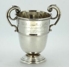 """Mappin & Webb Sterling Solid Silver """"Bentley Priory Cup"""" Trophy With Initials, London 1951"""