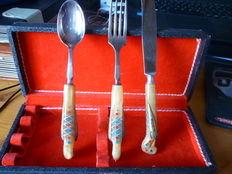 Kids Cutlery with Bird Handles - in case