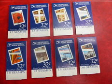 USA – 31 modern, different stamp booklets