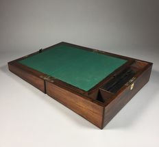 Rosewood veneered writing box - England - second half 19th century