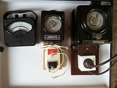 Two old timers and 1 old voltmeter