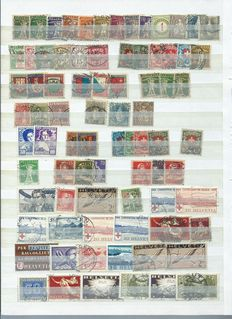 Switzerland 1900/2007 - Collection on stock cards