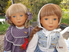 2 Steiff dolls - Kati and Lizzy - Germany