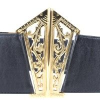 Chanel - Belt with gold buckle