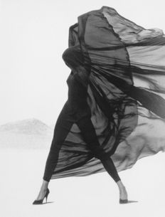 Herb Ritts (1952-2002) - 'Dressed in Versace veils, El Mirage'