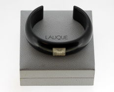 Lalique Vintage Wooden and Glass Bangle