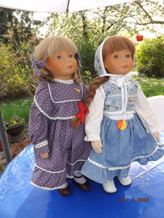 2 Steiff dolls - Kati und Lizzy - Germany