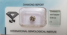 Diamond - 0.94 ct - IGI sealed