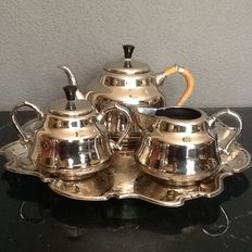 Tea set on tray Dovo Tiel Holland