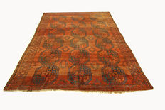 Antique Afghan carpet, Ersari, hand-knotted circa 1890, Afghanistan, oriental carpet, 2.85 x 2.25 m, collector's item